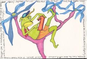 Tree Monkey Birthday Card Design