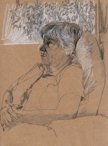 Maureen Watching Tennis