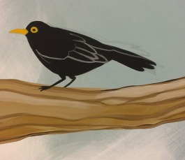 A blackbird - he gets a little more detail later